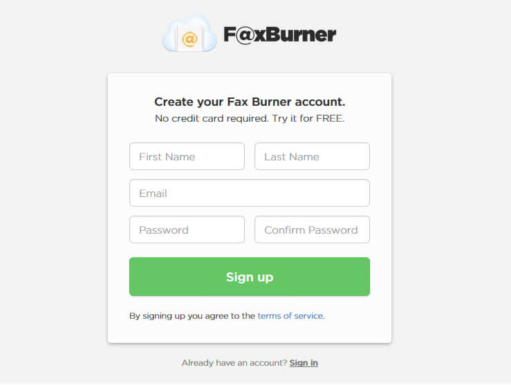 send fax online with FaxBurner