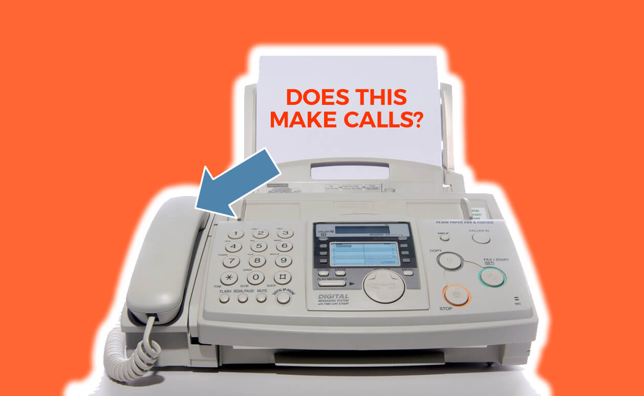 Can I make phone calls from my fax machine?