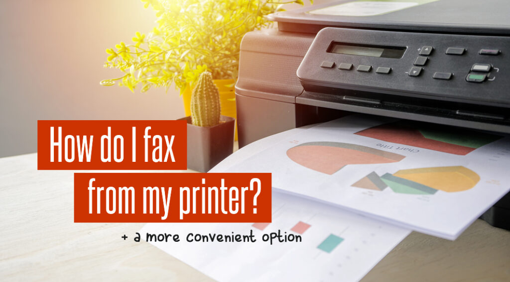 send fax from a printer